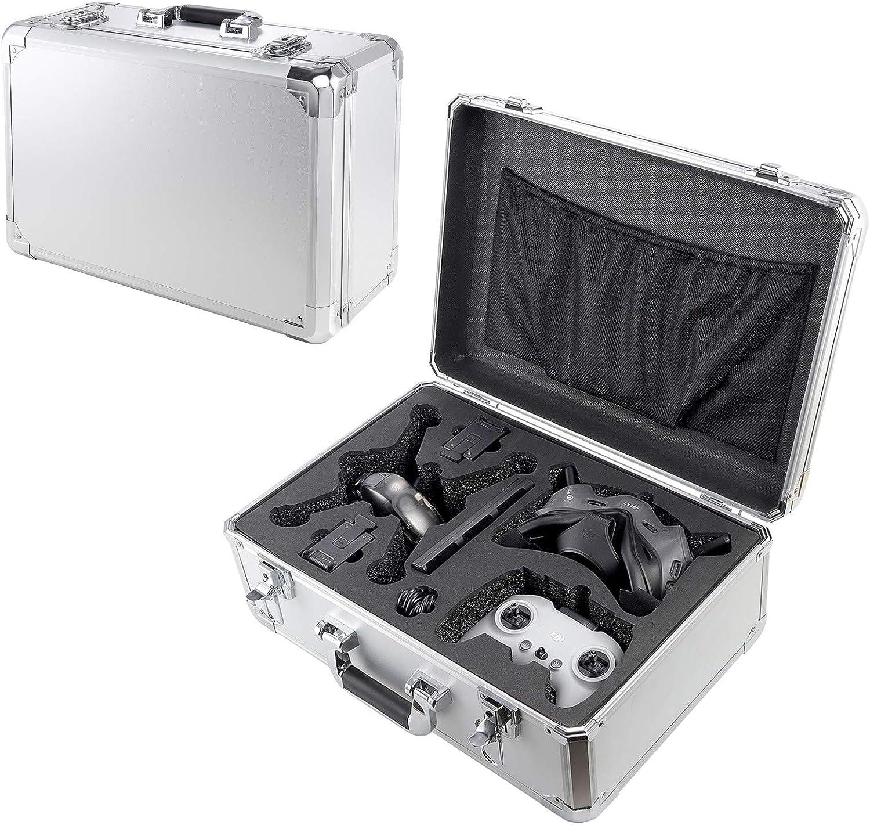 DJFEI Estuche rígido para dji FPV Combo Drone y Accesorios, Estuche de Transporte Profesional Impermeable para Maletas para dji FPV Drone Accesorios