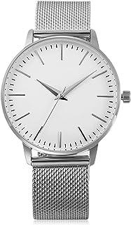 ساعة نسائية فاخرة كوارتز ساعة يد كاجوال جلد حجر الراين تصميم بسيط (اللون: F)