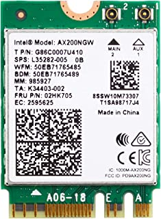 Authentic Intel AX200NGW Wi-Fi 6 11AX WiFi Module 2 x 2 MU-MIMO Dual Band Wireless Card with Bluetooth 5.0 Internal WiFi A...