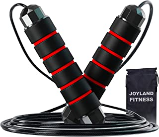 JoyLand Fitness Adjustable Skipping Rope Exercise and Fitness Equipment for Workout - Jump Rope with Velvet Bag for Men Wo...