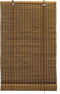 Seta Direct, Bamboo Slat Roll Up Window Blind 36-Inch Wide by 72-Inch Long, Espresso Brown