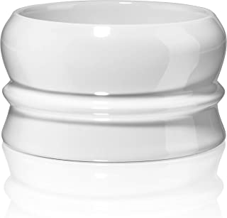 Fine Heavy Stoneware Stackable Shave Soap Bowl - Shaving Bowls For Men - Lather Mug For Wet Shavers - White