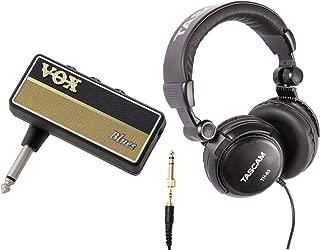 VOX Amplug 2 Blues (AP2BL) Guitar Headphone Amplifier Bundle with Headphones (2 Items)
