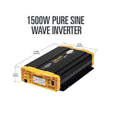 Go Power! GP-ISW1500-12 Industrial Pure Sine Wave Inverter - 1500 Watt / 12V