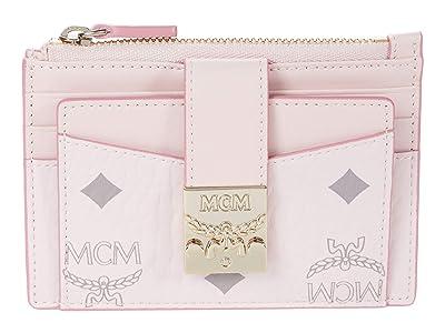 MCM Patricia Visetos Card Case Mini (Powder Pink) Handbags