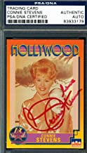 CONNIE STEVENS PSA/DNA SIGNED 1991 STARLINE HOLLYWOOD AUTHENTIC AUTOGRAPH