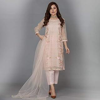 The LACE - Ladies Suit - Enchanted Rose - D12 (Indian/Pakistani Style)