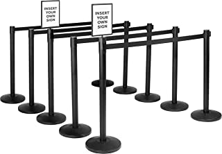 Qbuster Retractable Belt Stanchion Safety Barrier Post with 11 ft. Belt
