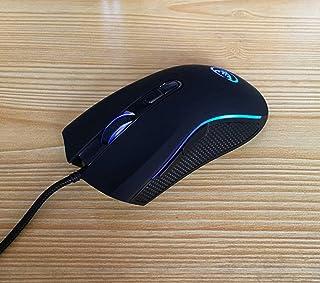 ماوس ألعاب سلكي , فأرة كمبيوتر مريحة , مع مراقب للبرمجة والمؤخرة LED مسامية , DPI قابلة للتعديل , مناسبة لأجهزة الكمبيوتر ...