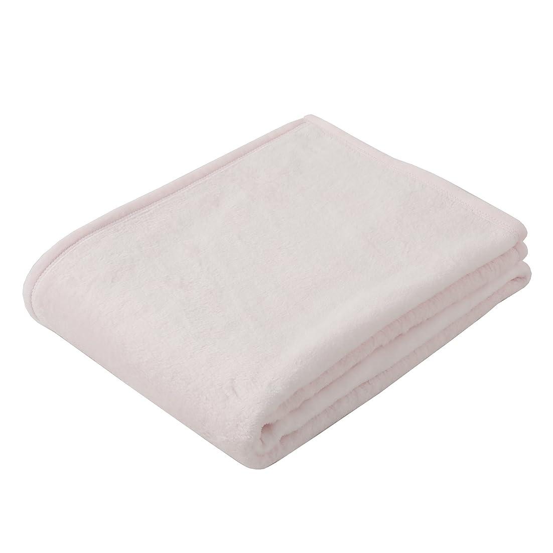 定常発掘もちろん東京西川 毛布 シングル 綿100%(毛羽部分) ふわっとやわらか ボーテ 日本製 無地 ピンク FQ07601053P