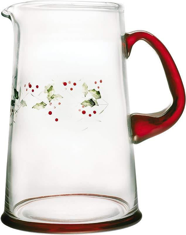 Pfaltzgraff Winterberry 2 1 2 Quart Glass Water Pitcher 247 744 00