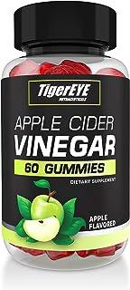 Tigereye Apple Cider Vinegar Gummies - Apple Flavored, Extra Strength, Gluten-Free Alternative to ACV Capsules, Drinks, Pi...