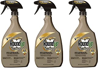 Roundup 5107300 Extended Control Weed and Grass Killer Plus Weed Preventer II Ready-to-Use Trigger Spray, 24-Ounce - 3 Pack