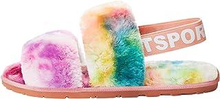 Pluizige Slippers Vrouwen Pluche Gezellige Harige Sliders met Riem Zachte Memory Foam Schoenen Open Teen voor Indoor Outdoor
