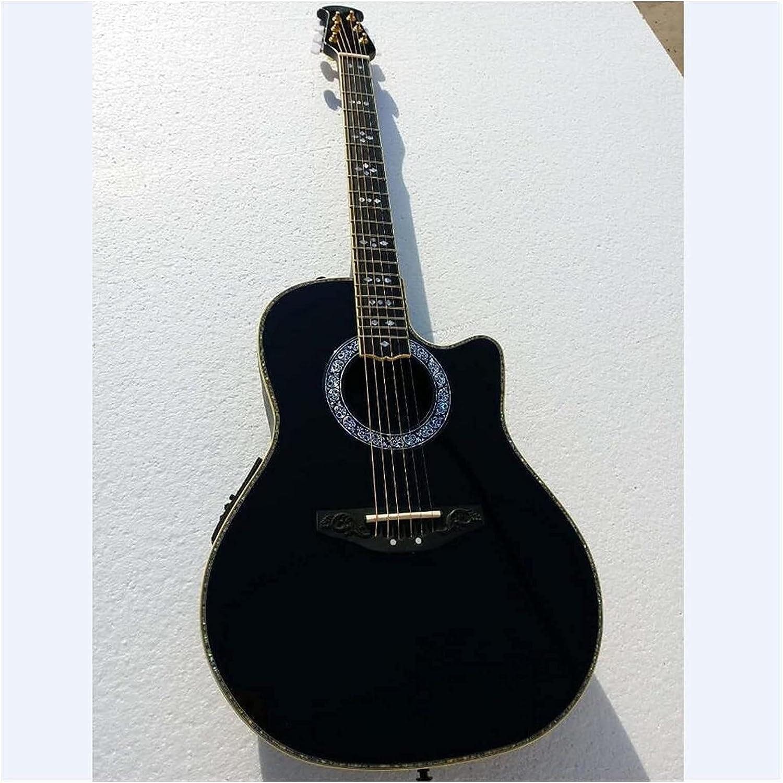XLAHD Guitarra Guitarra acústica sólida de 6 Cuerdas Guitarra eléctrica acústica Guitarra de Fibra de Carbono Guitarra para Principiantes para Amantes de la música (Tamaño: 41 Pulgadas)