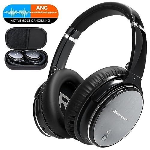 Auriculares Bluetooth FITFORT Cascos Inalámbricos de Diadema con Bluetooth 4.1, Cancelación Activa de Ruido,