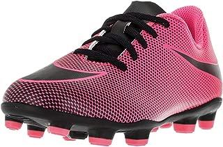 Boy's JR Bravata II FG Soccer Cleats, Pink Blast/Black, 6...
