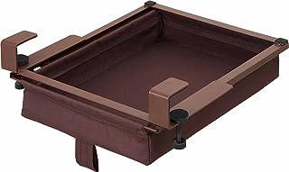 コジット テーブル下に スライド収納 ブラウン
