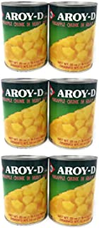Aroy-D Pineapple Chunk in Heavy Syrup (6 Pack, Total of 120oz)