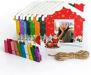Woodmin Instax 3-inch Wall Decor Hang Frame for Fuji Instant Mini/Pringo 231/SP1/ Polaroid PIC-300P/Z2300 Films(Christmas, 9 pcs)