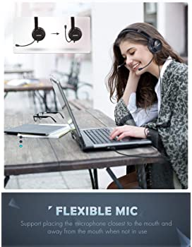 Mpow 071 USB Headset/ 3.5mm Computer Headset with Microphone Noise Cancelling, Lightweight PC Headset Wired Headphone...
