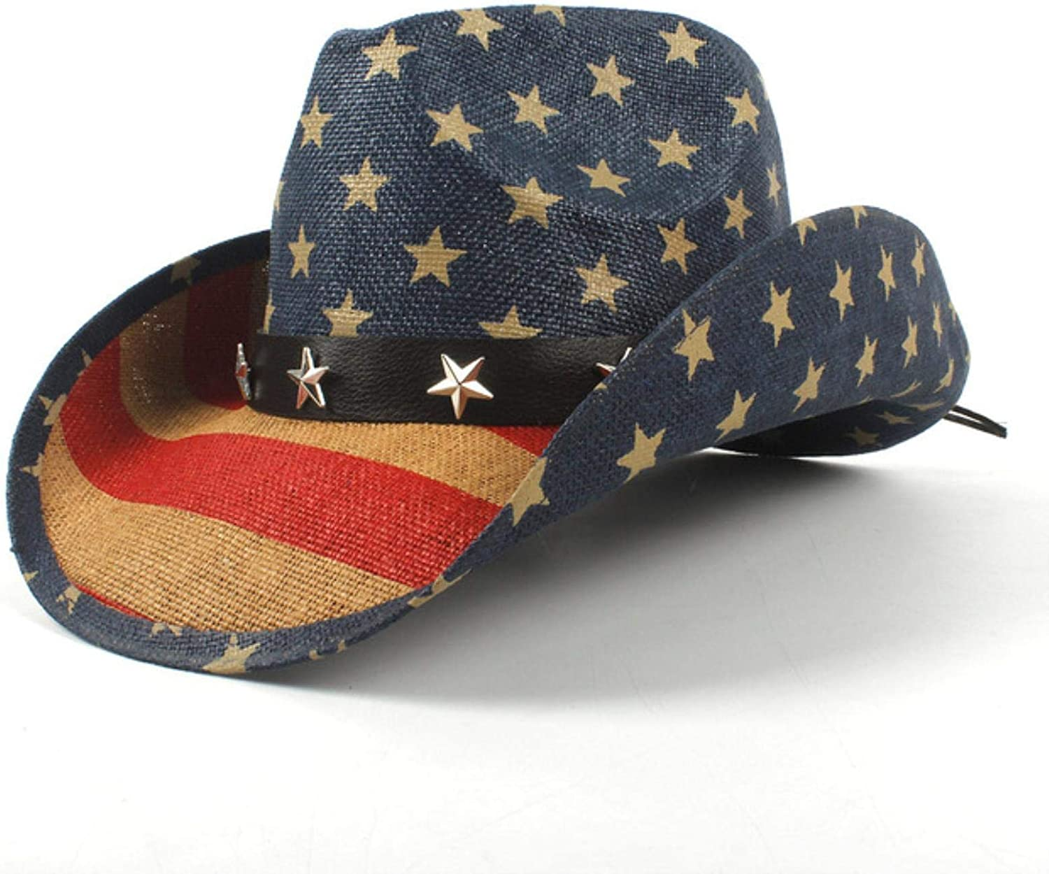 Summer Straw Men Cowboy Deluxe Hat Cowgirl Factory outlet Cap Sun Western Sombrero