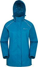 Mountain Warehouse Pakka Womens Waterproof Packable Jacket - Foldaway Hood Jacket, High Vis Ladies Coat, Lightweight Rain Jacket - for Cycling, Walking, Travelling