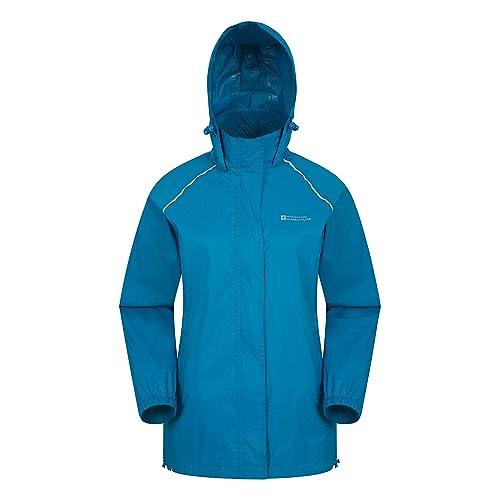 796c84932 Mountain Warehouse Pakka Womens Waterproof Packable Jacket - Foldaway Hood  Jacket, High Vis Ladies Coat