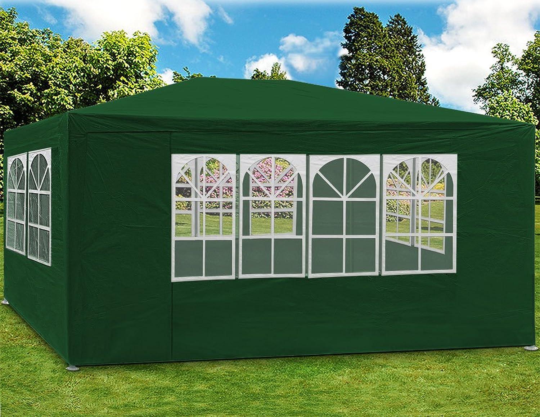 Deuba Festzelt Maui 3x4m  12 m2 Pavillon Seitenwnde wasserabweisend UV-Schutz 50+  Partyzelt Gartenpavillon Gartenzelt Grün