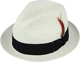 SB-54372-S19-DA0 with Hat Guide EveryHead SEEBERGER Womens Trilby Paper Hat Straw Hat Summer Hat Fashion Hat Fedora Mottled Grosgrain Ribbon for Women