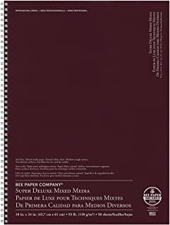Bee Paper Company BEE-808S60-1824 Deluxe Drawing Paper Afdeluxe 18-Inch-by-24-Inch, 18-inch x 24-inch, 50 Sheet Wire Bound Pad