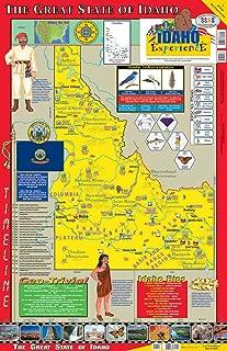 idaho wall map