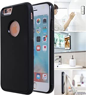 [ Monca ] Anti Gravity Cellphone Case [Black] Magical Nano Technology Stick to Wall, Glass, Whiteboards, Tile, Smooth Flat Surfaces (Goat Case for iPhone 6S)