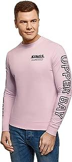 oodji Ultra Men's Printed Cotton Sweatshirt