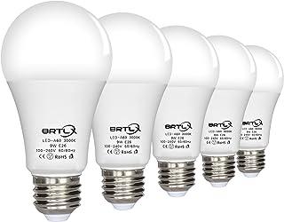 BRTLX LED電球 E26口金 60W形相当 9W 電球色3000k 広配光タイプ 省エネ90% 5個パック