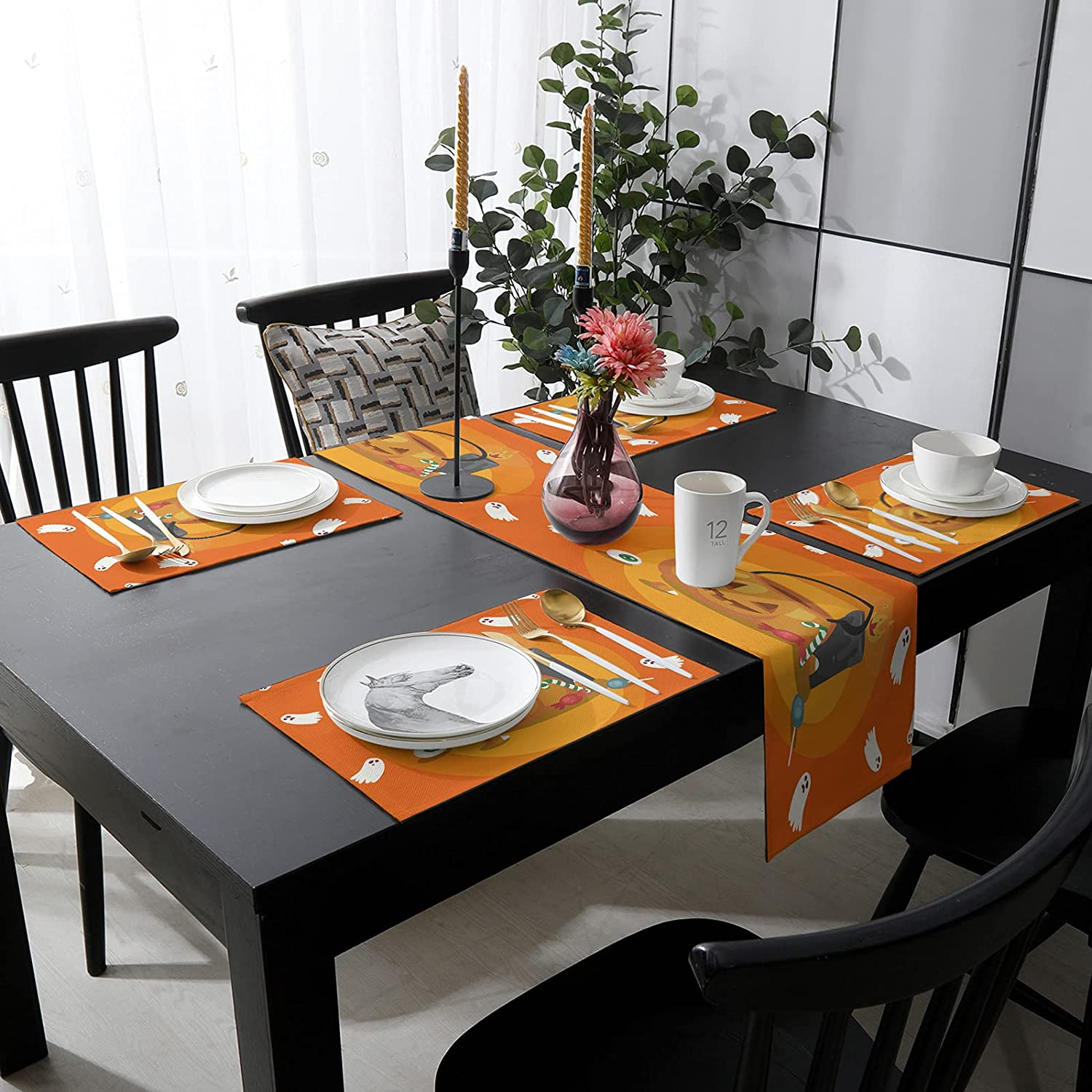 Womenfocus Genuine Free Shipping Outdoor Table Runner and Placemats Kitchen 1 year warranty Heat-Pr 4