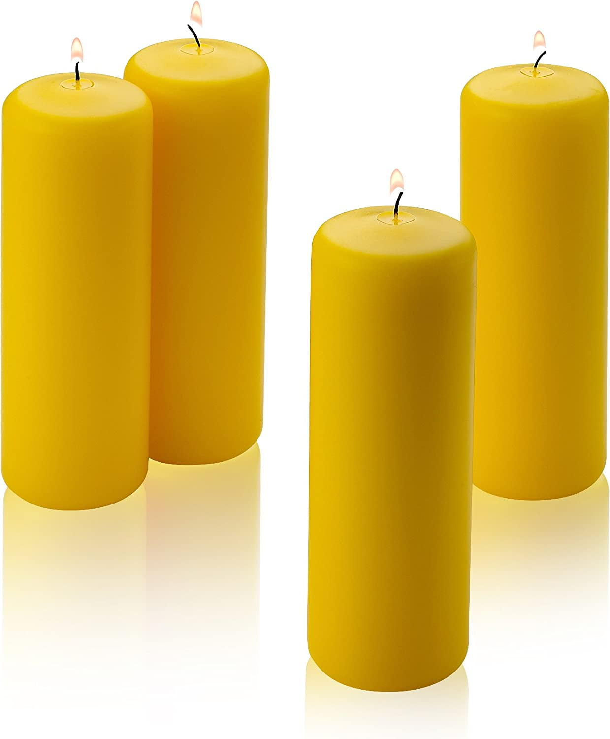 4 Citronella Scented Pillar Candles 2  Inch Wide X 6  Tall