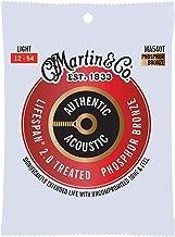Martin Guitar Authentic Acoustic Lifespan 2.0 MA540T, 92/8 Phosphor Bronze, Treated Light-Gauge Strings