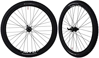 CyclingDeal WTB ST i25 Tubeless Ready Mountain Bike Bicycle Novatec Sealed Hubs with Tires Wheelset - Compatible with Shim...