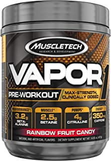 Pre Workout Powder | MuscleTech Vapor One Pre-Workout | Preworkout Powder for Men & Women + Muscle Builder | Creatine Mono...
