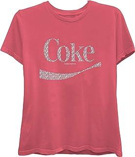 Ladies Coca Cola Fashion Shirt - Coke Classic Logo Nailhead Tee