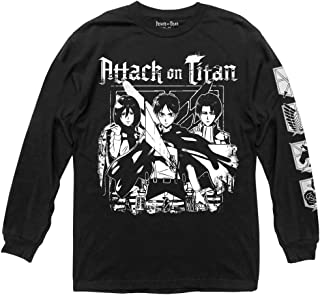Attack on Titan Season 2 Group with Scout Symbol Adult Long Sleeve