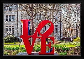 CANVAS ON DEMAND Robert Indiana's Love Sculpture at University of Pennsylvania Black Framed Art Print, 33