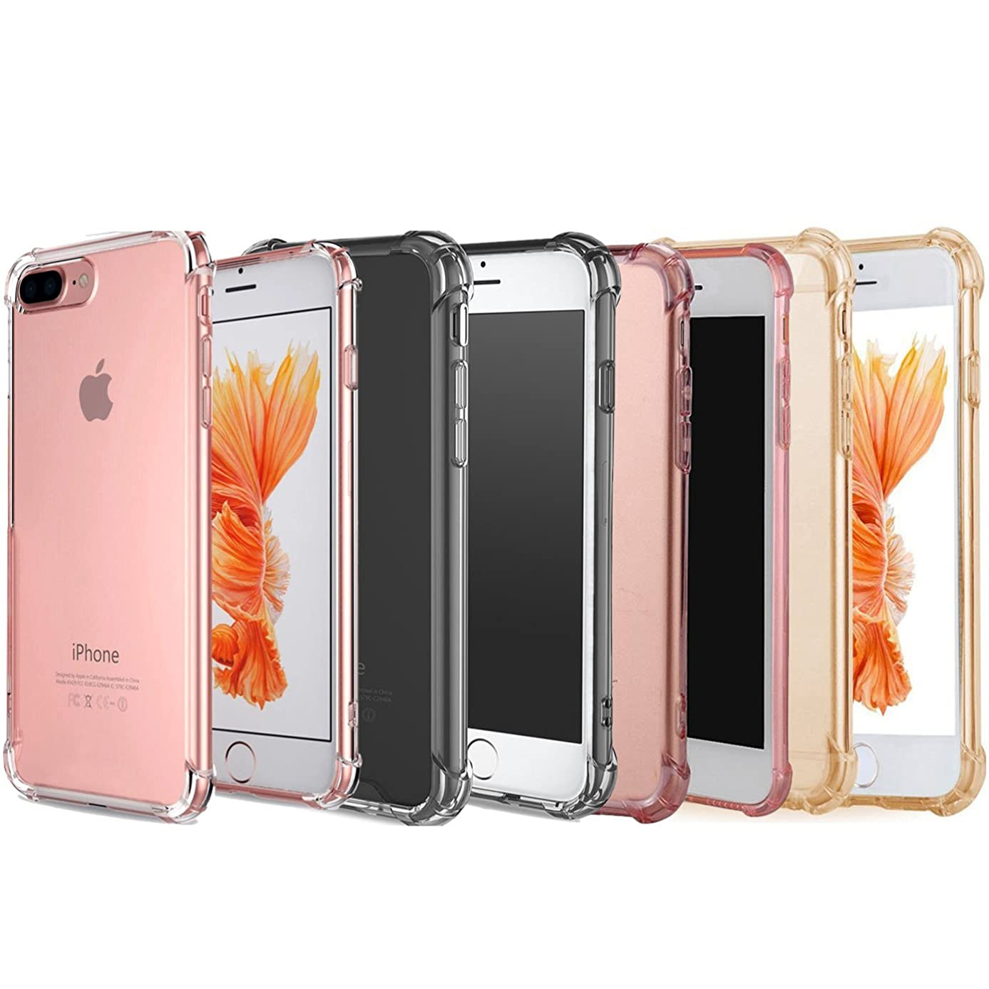 [4 Pack] iBarbe Protective Cover for iPhone7/8 Plus , Hard TPU Dust-Protection Scratch-Protection Drop-Protection Sleek Streamlined Protection Easy Installation Premium Sturdy Case