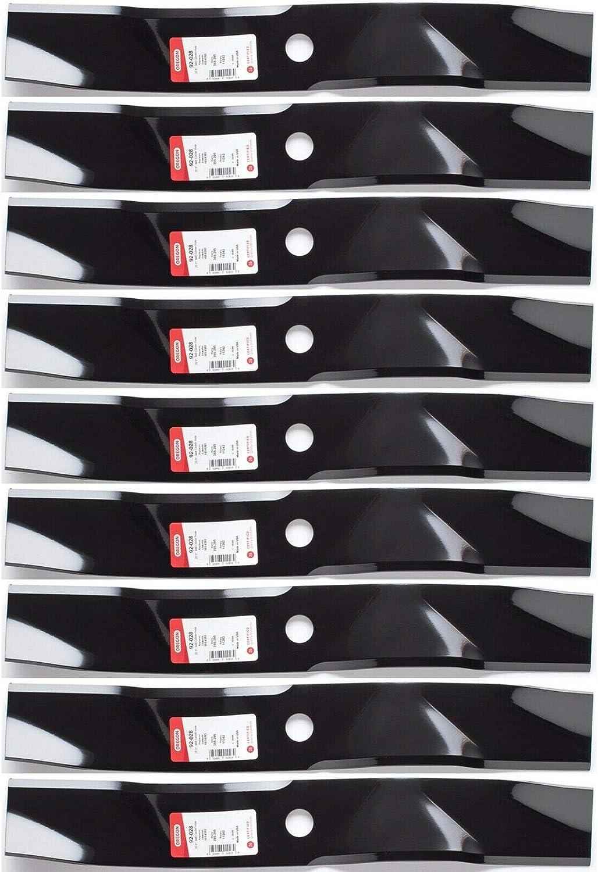 "9PK Ranking TOP1 half Oregon 92-028 Mulching Blade for Z Lazer E-Series 60"" Exmark"