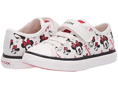 Geox Kids Ciak 64 Minnie Mouse (Toddler/Little Kid) (Off-White/Red) Girl