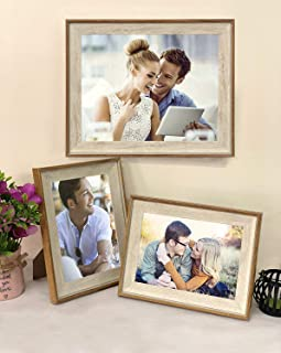 Art Street - Set of 3 Wall and Table top Photo Frame (2 Units of 6X8, 1 Unit of 8x10)
