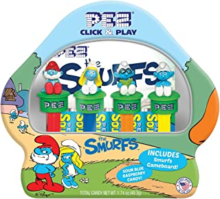 Pez The Smurfs Gift Set! Includes 4 Smurfs & Blue Candy