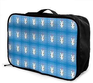Lyhope トラベルポーチ ウサギ バニー 収納バッグ おりたたみ シューズ収納可 機内持ち込み ビジネス 通勤 旅行 出張 に対応 38×28×15cm