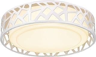 چراغ سقفی فلاش کوه ، لامپ VICNIE 12 اینچ 15W LED روشنایی Dimmable ، گرم 3000K رنگ سفید ، روغن مایع با برنز مفتول شده ، ETL ذکر شده برای آشپزخانه ، راهرو ، اتاق های خواب (بدنه فلزی و سایه اکریلیک)